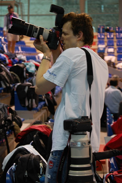 A well-equipped photographer at Rijeka 2008