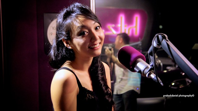 Clara C at hitz.fm Studio