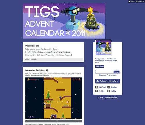 Twitter Advent Calendar day 10, Games & Advent, pt. 3