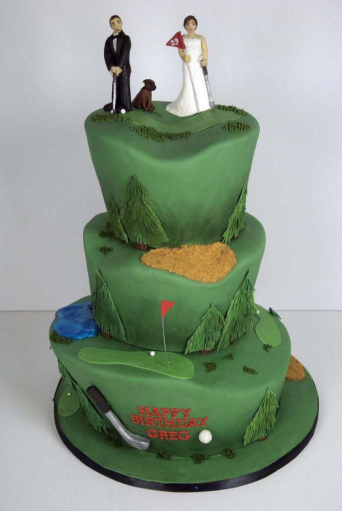W9073  golf theme wedding cake toronto  a photo on