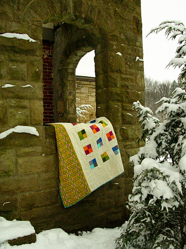 quilt back in the window