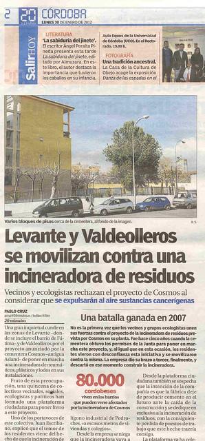 Movilización vecinos contra Incineradora de Cosmos.