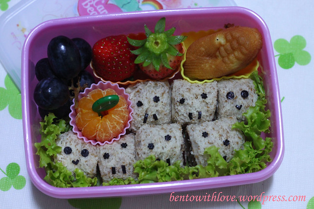 Caterpillar Bento with Breadrolls