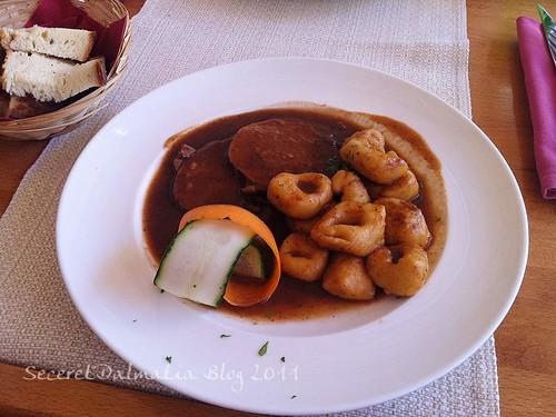 Pasticada with home made gnochi