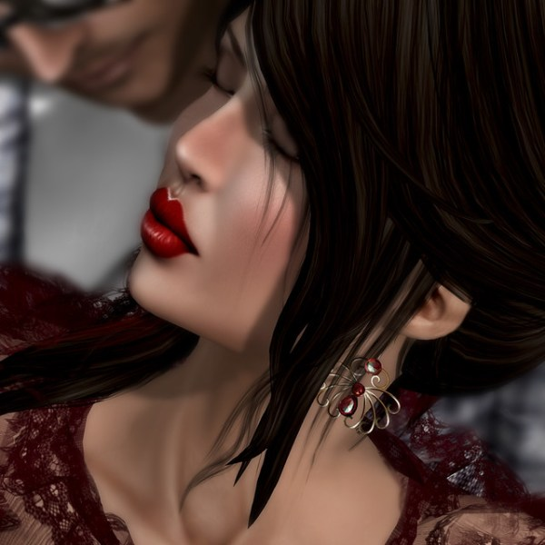 her lips