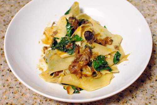 pappardelle with greens