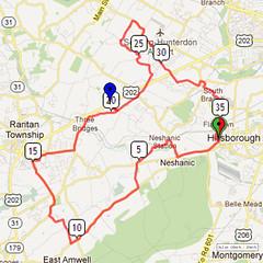 12. Bike Route Map. Somerset Valley YMCA, Hillsborough, NJ