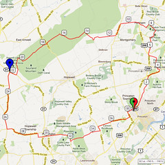 17. Bike Route Map. Princeton NJ