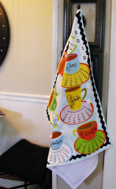 Spoonflower Calendar Tea Towel