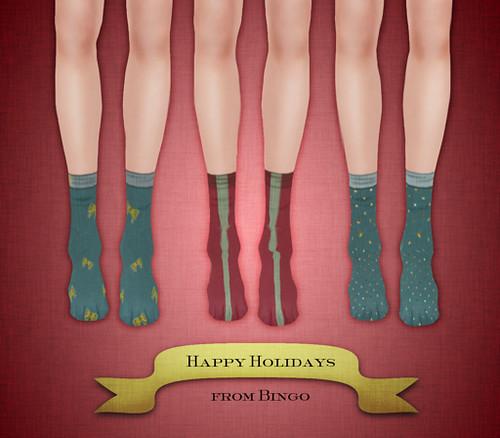 {Bingo} Low-Calf Socks Xmas Set1