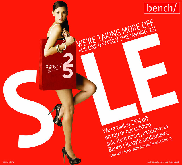 Bench 25th year sale-1