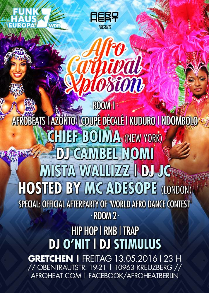 Afro Carnival Explosion, Berlin - May 14th, 2016