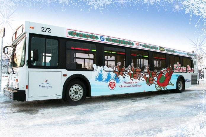 Winnipeg Transit's Santa Bus Back on the Road for 2019 Holiday Season