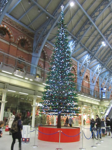 St Pancras Lego Christmas Tree