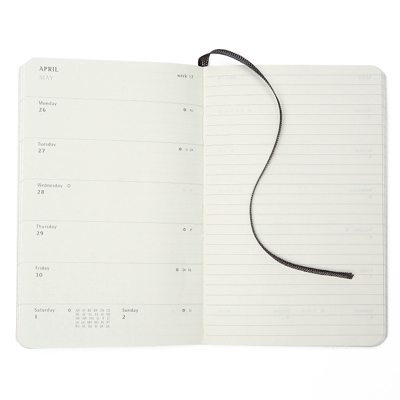 Moleskine Academic Planner for 2012 - Interior Pages