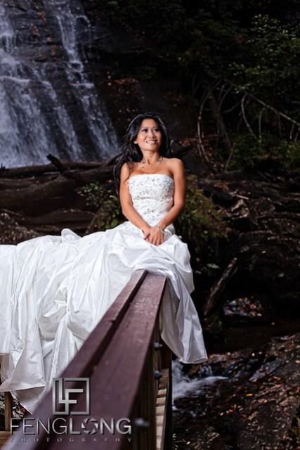 Khammy's Bridal Portrait Session   Anna Ruby Falls   Helen, GA Wedding Photographer