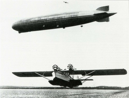 Dornier Do R4 Super Wal and LZ 127 Graf Zeppelin by kitchener.lord