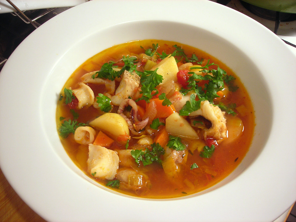 Mediterranean-style fish and shellfish stew