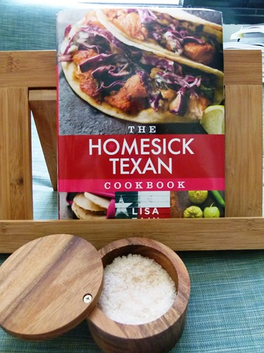 Cookbooks diary of a pampered housewife cat bought me the homesick texan cookbook a wooden recipe book holder and a salt cellar forumfinder Choice Image