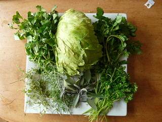 Green salad with herbs - Ingredients