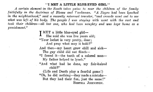 I Met A Little Blue - Eyed Girl - Poem from 1912 by Bertha Johnston by vieilles_annonces