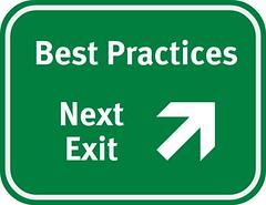 Best Practices Highway Sign - Next Exit
