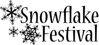 Snowflake Festival logo white background
