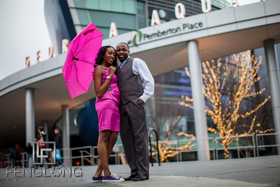 LaTasha & Gabriel's Engagement Session | Georgia Aquarium | Atlanta Wedding Photographer