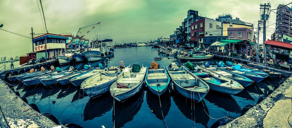 Cijin Boats Panoramic