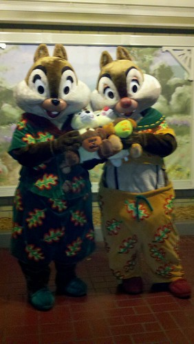 Chip and Dale in their pajamas - One More Disney Day