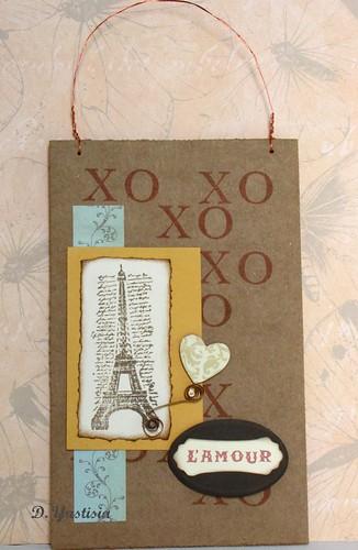 L'amour cardboard greeting