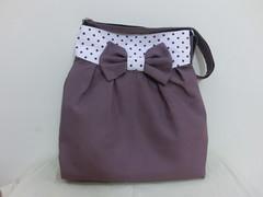 Mya bag in heart purple