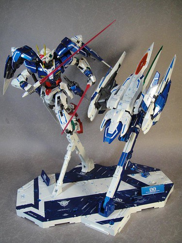 Custom Painted MG 00 Raiser Metal Build Color Scheme with Stand CF GundamPH (2)