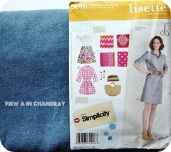 View A in chambray
