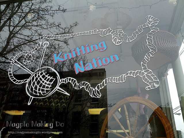 Knitting Nation sign