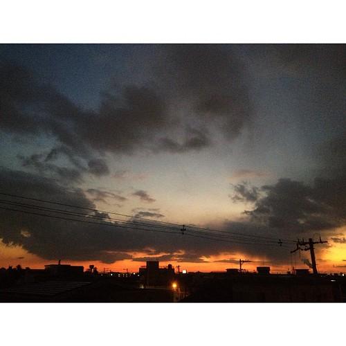 いま空ラスト! 夜の帷がおりてきたよ。GDNight! (^O^☆♪ #iphonography #instagram #iphone4s