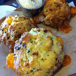 Bacon Cheddar Buttermilk Biscuits with Maple Butter @ Manhattan Beach Post