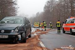 Pkw gegen Baum + Folgeunfall Platter Straße 03.03.12