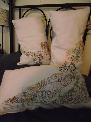 Sew Lovely Tattoo Lady Cushions
