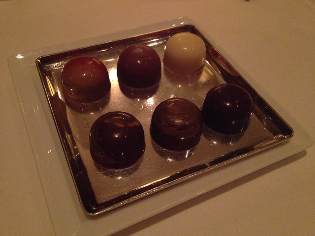 House-made chocolate truffles - The French Laundry