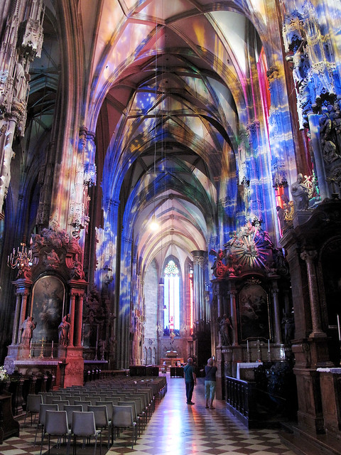 Inside St Stephen's Cathedral.