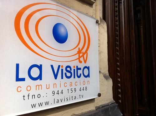 LaVisita cartel entrada al portal by LaVisitaComunicacion