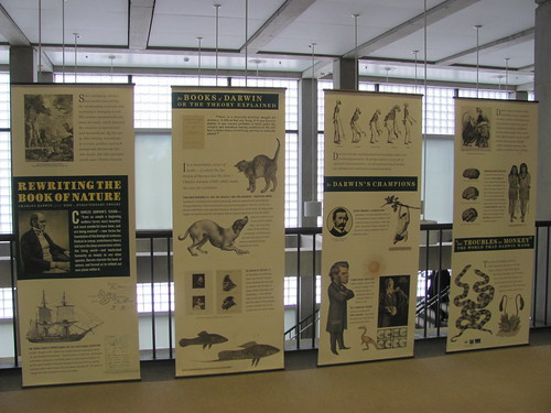 """""""Rewriting the Book of Nature"""" (Darwin exhibit) at OHSU Library"""
