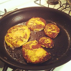 A new take on the yam pancakes.