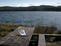 Bookcrossing for World Book Night at Loch Morlich
