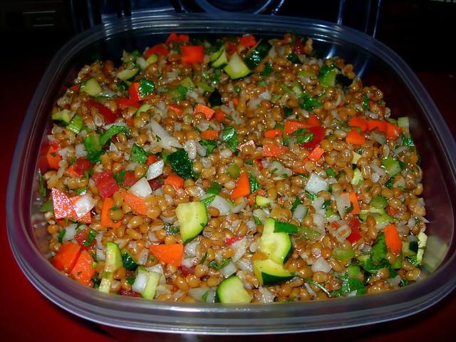 Vegan Wheatberry Salad