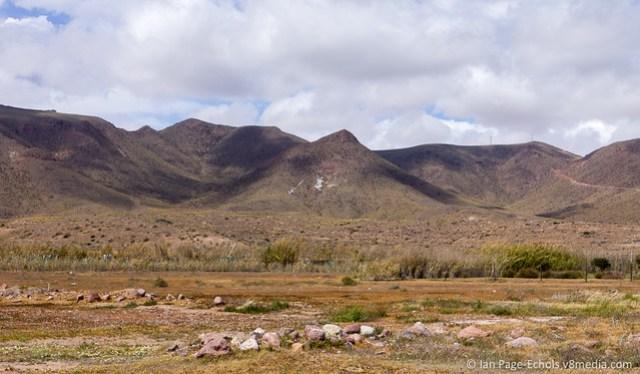 Cabo de Gata Hills with cloud shadows