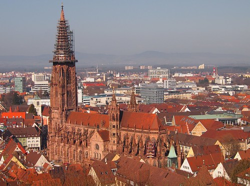 """the """"Freiburger Münster"""" is a large Gothic cathedral"""