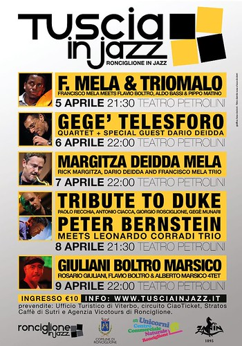 TUSCIA IN JAZZ SPRING 2012 Ronciglione (VT) 5-9 april 2012 by cristiana.piraino