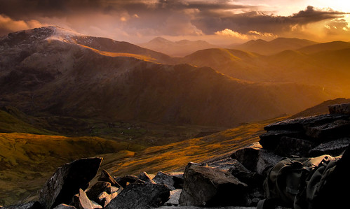 Phantasmagoric light on the Snowdon Range